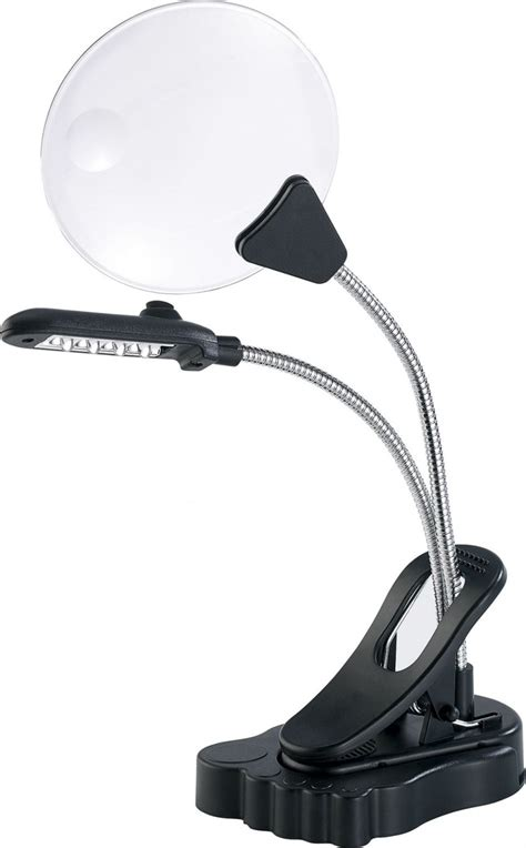 loupe bureau loupe de bureau avec pince et 4 led lumineuses pearl fr