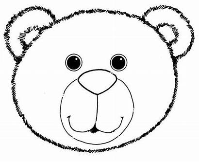 Coloring Teddy Bear Mask Brown Polar Clipart