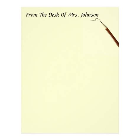 To find out how to get your letter delivered with a north pole postmark, click here. From The Desk Of ?? With Pencil Stationery Letterhead Template | Zazzle