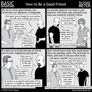 How to Be a Good Friend — Basic Instructions
