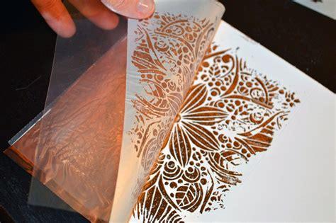 crafters workshop blogstencils metallic foil deco