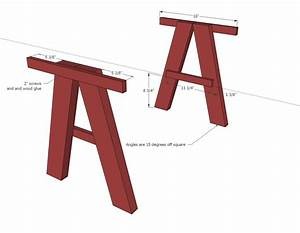 double trestle play table woodworking plans - WoodShop Plans