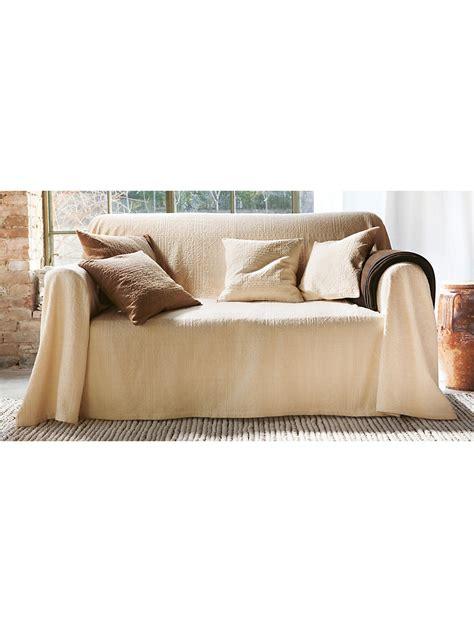jeté pour canapé hahn le jeté pour canapé et lit 160x270cm écru