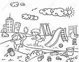 Playground Children Template Slide Drawn Swing Cheerful Disegnato Giuoco Modello Bambini Campo Mano Dei Doll Toys Sketch Play Child Tshirtcraftsdiy sketch template