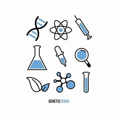Genetic Experiment Icons Vector Clipart Vectors Keywords