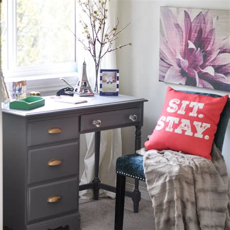 desk and bed in small room charming small writing nook with a navy desk in bedroom