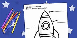 Space Rocket Labelling Sheet