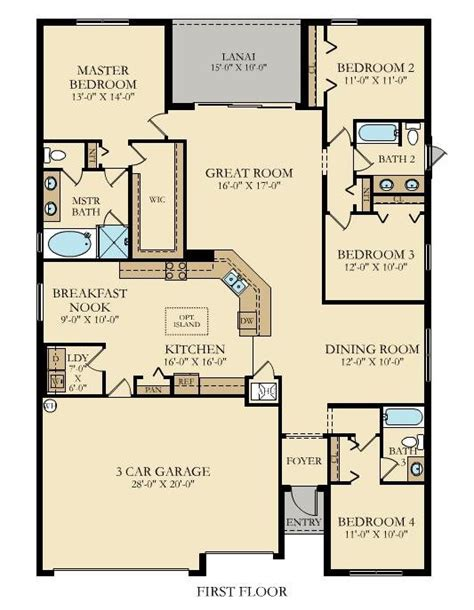 New Home Layouts by Tivoli New Home Plan In Arborwood Preserve Manor Homes By