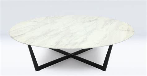 table basse marbre ronde table basse ronde design en marbre blanc et m 233 tal noir