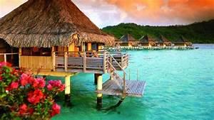 bora bora mystically beautiful With honeymoon huts over water