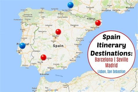 Spain Itinerary Barcelona Seville And Madrid In One Week