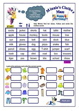 english esl clothes worksheets  downloaded  results