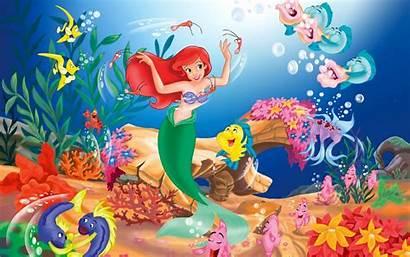 Mermaid Cartoon Ariel Fish Wallpapers