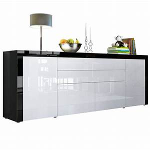 Sideboard Schwarz Weiß : la paz v2 mit absetzungen t ren klappen schubladen ~ Sanjose-hotels-ca.com Haus und Dekorationen