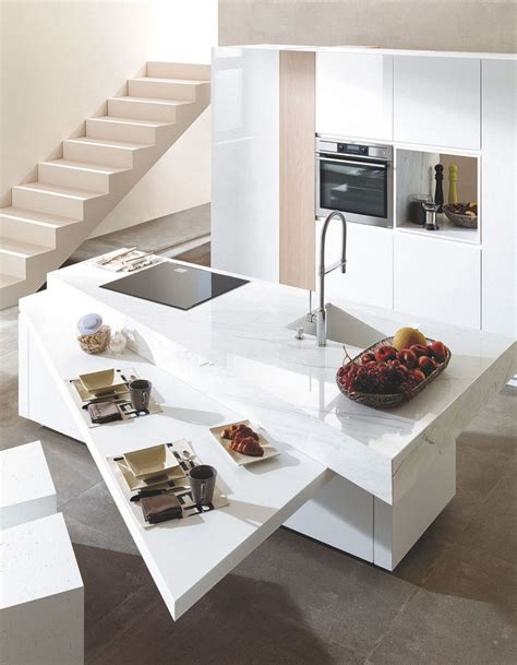 plans de travail pour cuisine un plan de travail ultra résistant pour une cuisine longue