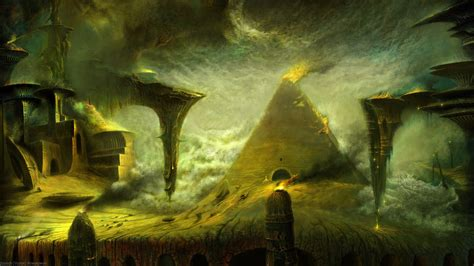 full hd wallpaper pyramid tomb necropolis sand storm