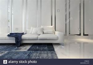 Teppich Auf Englisch : pl sch wei schnittsofa mit blauen decke und teppich in ~ Watch28wear.com Haus und Dekorationen