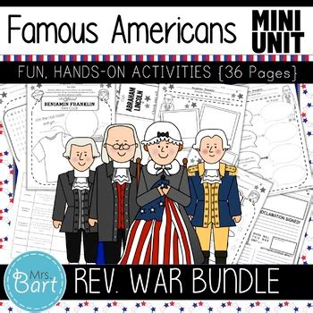 Revolutionary War Famous Americans Bundle- NO PREP Mini ...