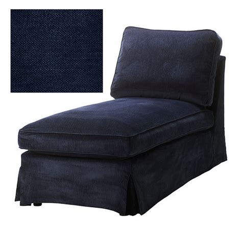 ikea ektorp chaise longue cover slipcover vellinge blue free standing lounge