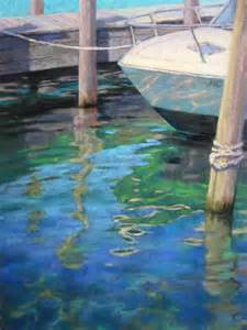 Watercolor Painting Water Reflections