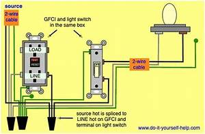 Wiring Diagram For A Gfci Outlet And Light Switch In The