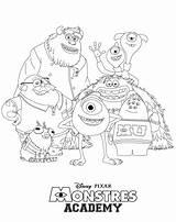 Monsters Coloring Inc University Characters Nerf Sully Gun Drawing Monster Getcolorings Monstres Getdrawings Printable Halloween sketch template