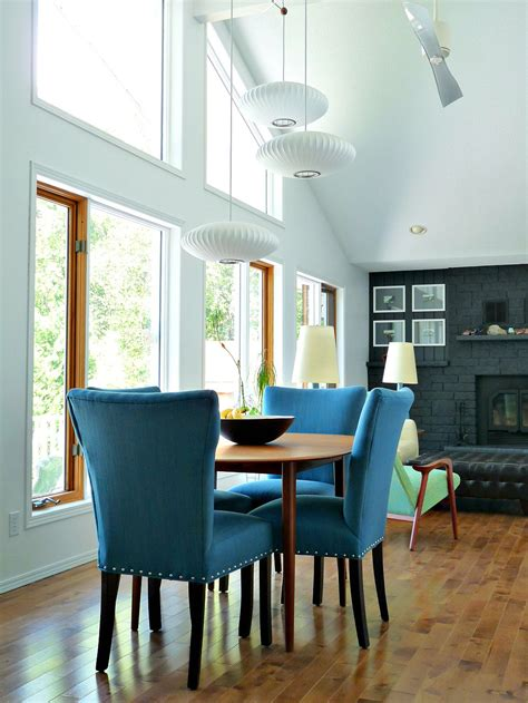 castraveight  blue tweed dining room chairs update