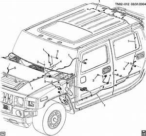 2007 Hummer H2 Wiring Harness  Body