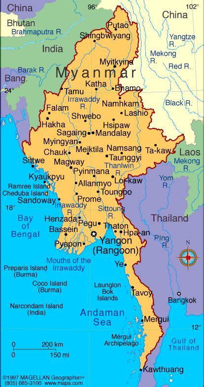 myanmar map political regional maps  asia regional