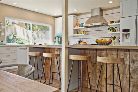 oak kitchen island with seating rustic modern