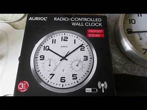 Funkuhr Einstellen Radio Controlled : my lidl auriol radio controlled wall clock thinks it 39 s in germany dcf77 vs msf60 youtube ~ Orissabook.com Haus und Dekorationen