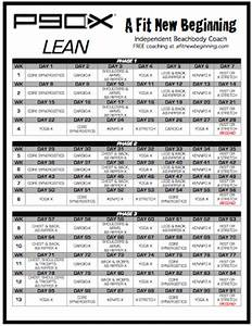 P90X Lean Schedule | A Fit New Beginning | Fitness ...