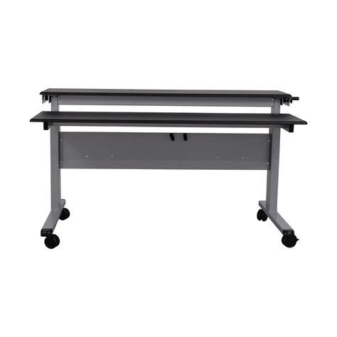 stand up height adjustable desk 83 off rakuten rakuten crank adjustable height sit to