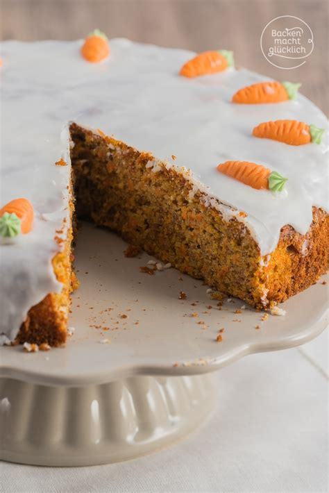 kuchen backen ohne saftiger karottenkuchen für ostern backen macht glücklich
