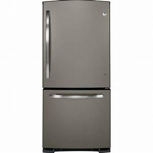 Ge 20 3 Cu  Ft  Bottom Freezer Refrigerator In Slate