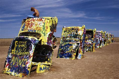 Cadillac Ranch, Amarillo, Texas, 2004, Tino Soriano