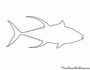 Yellowfin Tuna Silhouette Stencil | Free Stencil Gallery