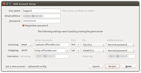 Office 365 Mail Thunderbird by Thunderbird Office 365 Exchange Works Once Ask Ubuntu