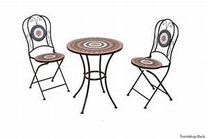 Mosaik Gartenmöbel Set : bistroset 3 tlg balkonset st hle tisch gartenm bel ~ Watch28wear.com Haus und Dekorationen