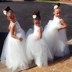 Long Formal With Lace Flower Girl Dresses 2017 Cute Little ...