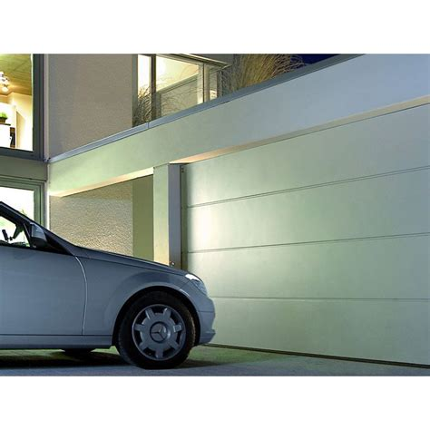 porte de garage sectionnelle motoris 233 e hormann h 200 x l 240 cm leroy merlin