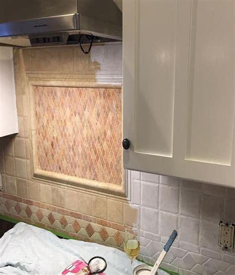 Painted Tiles For Kitchen Backsplash by We Painted Our Kitchen Back Splash Hometalk