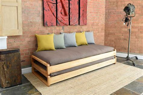 solid birch single stacking bed futon company