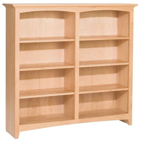 Bookcase 50 Inches Wide by Alder Bookcase Unfinished Furniture