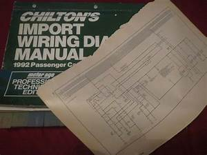 1992 Infiniti G20 Wiring Diagrams Schematics Manual Sheets