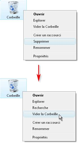 supprimer la corbeille du bureau 28 images windows 7