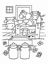 Farm Coloring Pages Print Printable Justcolor sketch template