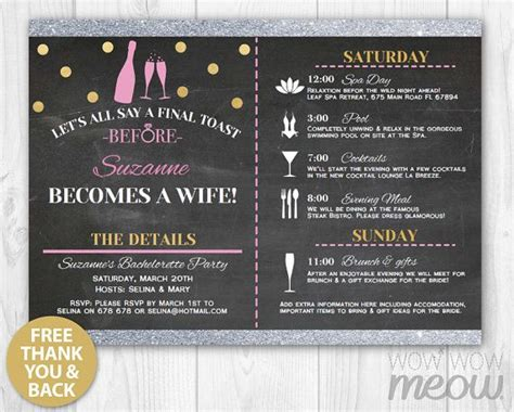 Bridal Shower Itinerary Template Images Of Baby Shower 33 Best Itinerary Bridal Shower Invitations Images On