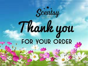 Thank You for Your Scentsy Order