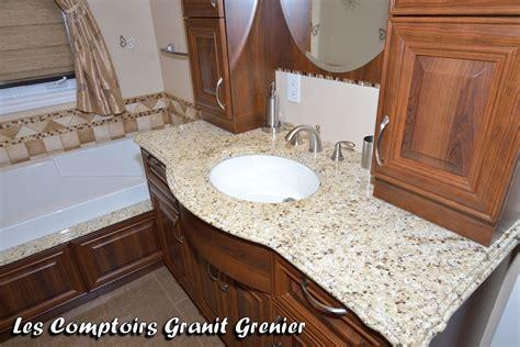 comptoirs granit grenier comptoirs de salle de bain en granit